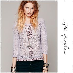 Free People Changing Directions Lace Top S
